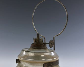 """Antique """"KITCHEN LAMP"""" Wall Mount Oil Lamp"""