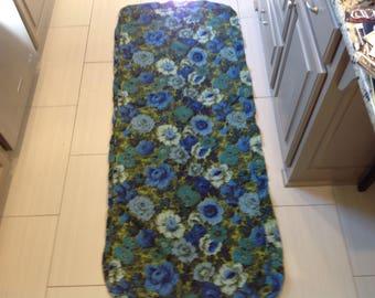 Floral MId Century  Barkcloth Cushion Cover