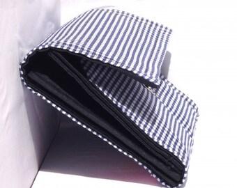Gingham - blue Plaid wallet