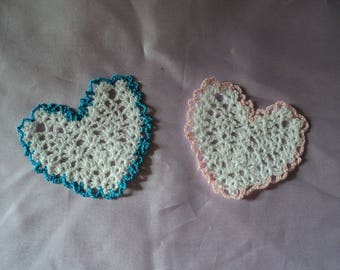HEART CROCHET FOR WEDDING OR DECORATION