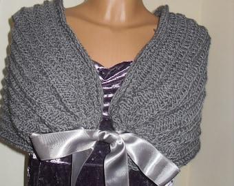 Bridal coat, Wedding knetted bolero, Bridal coat, gray coat, White bridal coat.Soft wool