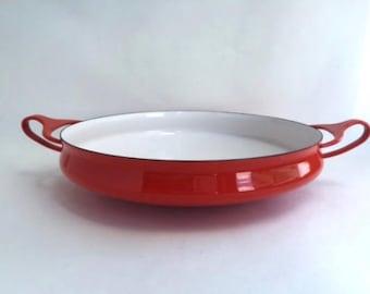 Round Red Dansk Kobenstyle Enamel Pan