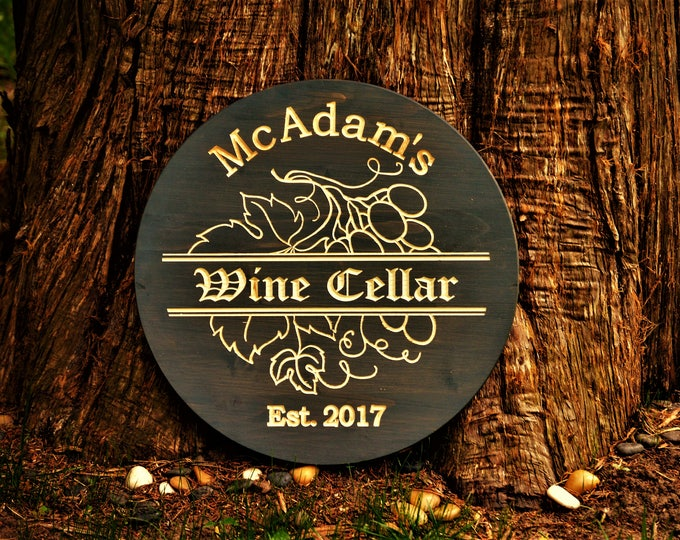 Couples Gift Wine Cellar Wedding Anniversary Unique Best Wedding Wine Gifts Custom Bar Sign Wine Barrel Sign Wood Name Sign Personalized Bar