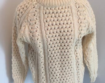 Malinmore Irish Aran Sweater, size 36