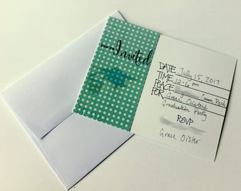 Set of 25 Invitations and Envelopes