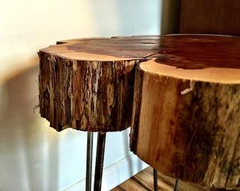 Cedar log Slice Edge  Ended Table