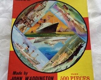 Circular Jigsaw World Shipping Design 542