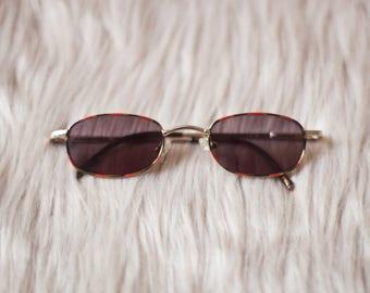 Black Square Vintage Sunglasses / Square Sunglasses