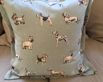 Dog print cushion