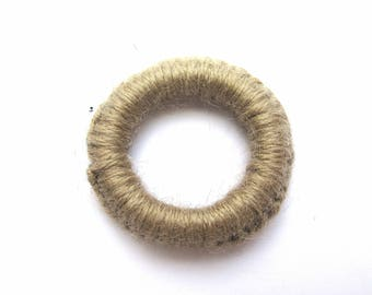 RING DISH EDGE 10MM HAND COVERED WITH WOOL MOHAIR CLAY 40 MM