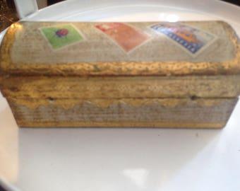 Vintage Florentine Stamp Box