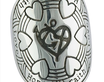 Sterling Silver Love Hope Faith Ring