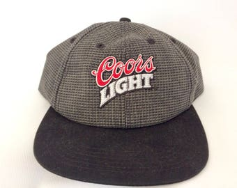 Vintage 1990s Coors Light Snapback Hat Cap