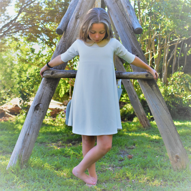 Ivory party dress for girls - Girl\'s ivory dress - short sleeve ...