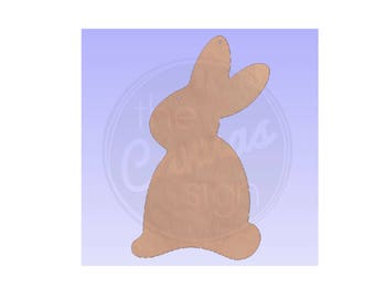 BUNNY - EASTER - Unfinished Wood Cutout - DIY - Wreath Accent, Door Hanger, Ready to Paint & Personalize