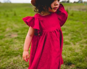 Red linen Savanna dress or top