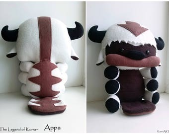 Baby Appa plush~ The Legend of Korra, Stuffed Flying Bison toy, ~ 36cm length