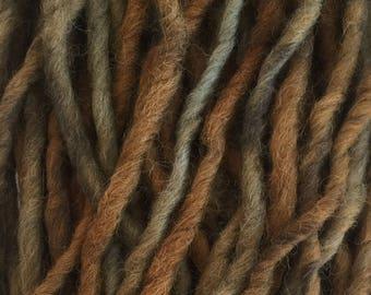 Hand Dyed Yarn, Bulky, Alpaca, Wool, Hand Dyed Brown Yarn