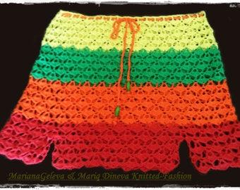 Ladies crochet Beach skirt