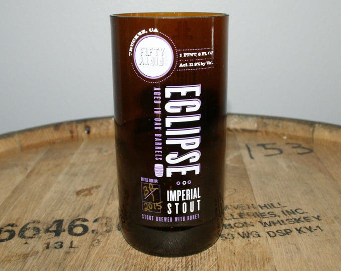 UPcycled Pint Glass - Fifty Fifty - Eclipse