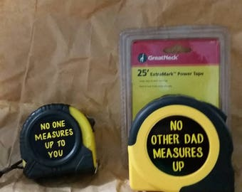 Personalized Message Tape Measure