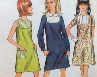 McCall's 9201 misses A-line dress size 12 bust 34 vintage 1960's sewing pattern