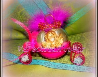 set of 40 containers dragees carriage, ideal for a baptism, marriage royal theme, Cinderella, prince or Princess