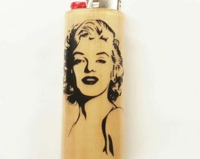 Marilyn Monroe BIC Lighter Case Holder Sleeve Cover Norma Jeane
