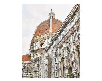 Italy Wall Art, Florence Photography Print, Duomo Picture, Florence Cathedral, Vertical Art Europe Photograph Living Room Decor Travel Gift