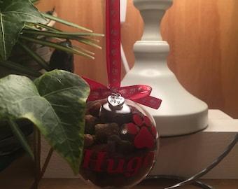 Personalised cat  dog pet treat reusable  baubles