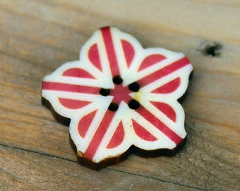 Tagua Button - Flower City Logo (Rochester, NY)