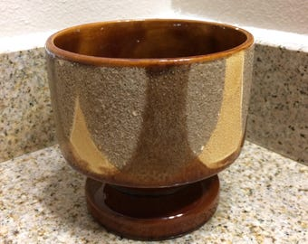 Vintage Haeger Pedestal Planter, Browns and Tans, made in the USA