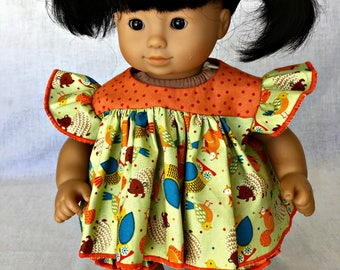 Bitty Baby handcraftd  dress and bloomers - fits Bitty Baby and other 15 n baby dolls.