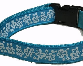 Dog Collar, Hibiscus