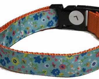 Dog Collar, Spring Flowers