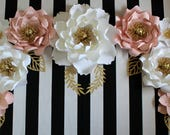 Paper flower backdrop, Nursery paper Flowers, Paper flowers for first birthday, Cake smash photo prop, Photo backdrop