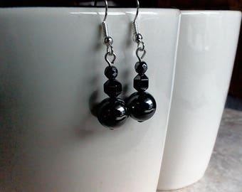 Hematite Dangle Earrings