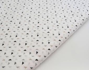 Cotton Poplin fabric triangles by 50 cm