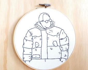 Gortex George Costanza Hoop Art, Decor, Seinfeld, TV