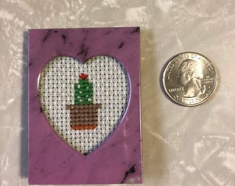 Cactus / Succulent Tiny Cross Stitch