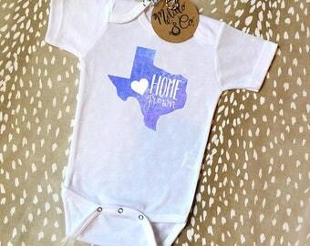 Cute Baby Onesie®,Baby Shower Gift,Baby Gift,Baby Boy Gift,Home Grown Onesie®,Home Grown,Texas Home Grown,Cute Onesie®,Texas Shirt