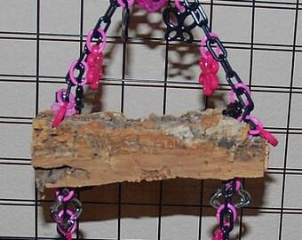 Bluebonnet Hanging Cork Bark Swing - Small