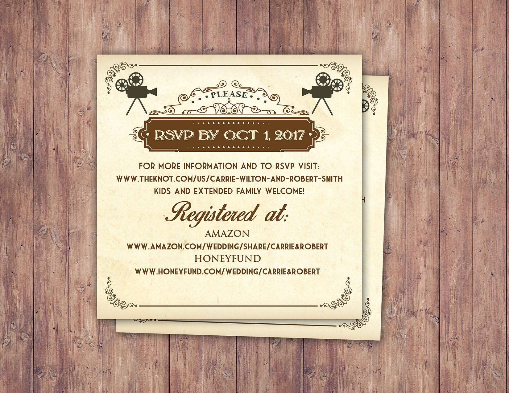 Art DecoVintage Retro Save the Date Ticket Announcement, wedding ...