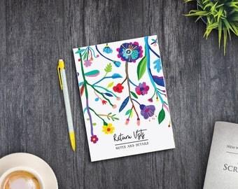 B6 Notebook - Return Visits Notebook - Floral - jw gifts - best life ever - bestlifeever - jw org - witness pioneer gift