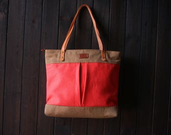 Shopping Canvas tote bags, leather bags, canvas zipper totes, personalized leather canvas hand bags, street tote bags, unisex laptop bags