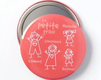 Gift - family - customizable 58 mm Pocket mirror