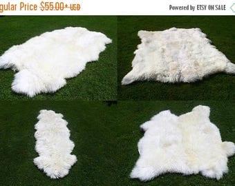 ON SALE Sheepskin Rug | White Sheepskin Rug | Real Sheepskin Rug | Sheepskin  Throw |