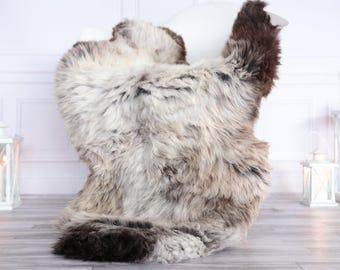 Organic Sheepskin Rug, Real Sheepskin Rug, Gute Sheepskin, Christmas Home Decor, Gray Brown Sheepskin Rug #OCTGUTE8