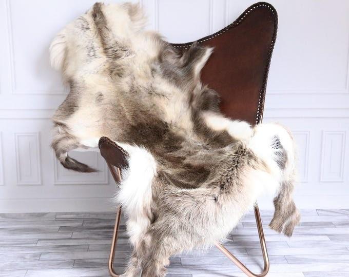 Reindeer Hide | Reindeer Rug | Reindeer Skin | Throw XL Large - Scandinavian Style #15RE37