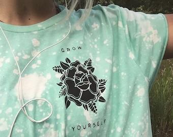 Grow Yourself bleached Tee
